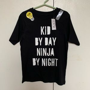 NWT ninja glow in the dark shirt. Size 5